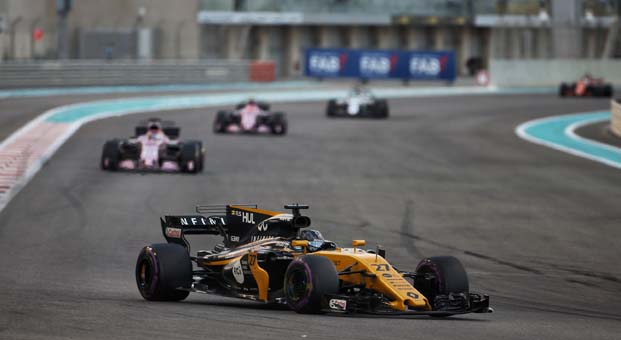 Renault sezonu Abu Dabi'de puanla noktaladı