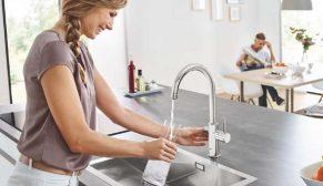 "Şebeke suyunu filtrelenmiş içme suyuna çeviren ""GROHE Blue Home"" Türkiye'de"