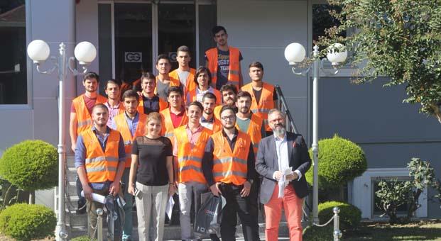 Üniversiteli gençler Günsan'ın üretim tesislerini ziyaret etti