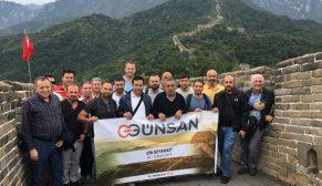 Günsan iş ortaklarıyla Çin'de