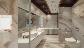 Banyolar bitkiler ve doğal taşlarla huzur veriyor