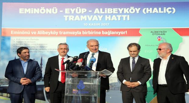 İstanbul Büyükşehir Belediye'den  Eyüp'e Tramvay ve yeni meydan