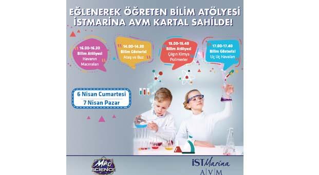 İstMarina AVM'de çocuklar bilimle buluşuyor