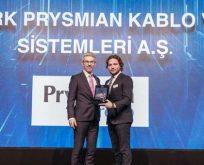 """Siemens'ten Türk Prysmian Kablo'ya """"Yılın Tedarikçisi"""" ödülü"""