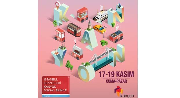 İstanbul lezzetleri Kanyon sokaklarında