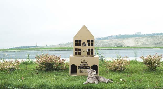 Koçtaş kolileri kedi evine, çekmece içi düzenleyiciye, dekoratif ve eğlence kutularına dönüşüyor