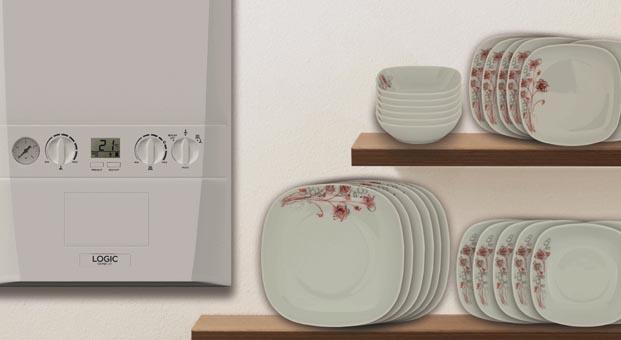 Termo Teknik'ten kombi alana Güral Porselen'den 6 kişilik yemek seti hediye