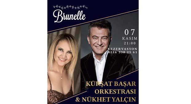 """""""Kürşat Başar Orkestrası & Nükhet Yalçın""""her çarşamba'Brunelle Moda Restaurant'ta"""