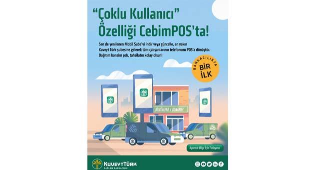 Kuveyt Türk CebimPOS'a çoklu kullanıcı özelliği geldi