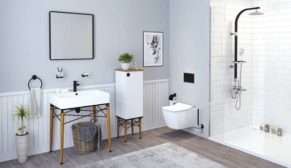 İskandinav stili Legno ile banyolarda