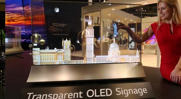 LG, yeni Transparan OLED Ekranı ile dijital signage ürünlerin geleceğini gözler önüne seriyor
