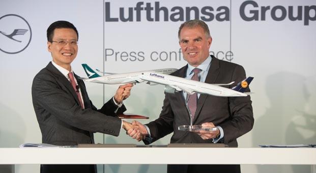 Cathay Pacific Airways ve Lufthansa Group'tan işbirliği