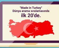 'Made in Turkey' 18'inci sıraya yerleşti