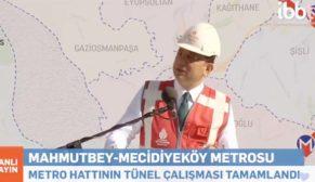 Mecidiyeköy-Mahmutbey metro hattının açılması için geri sayım başladı