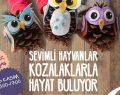 Marmara Park AVM'de çocuklar çam kozalaklarından sevimli hayvanlar tasarlayacak