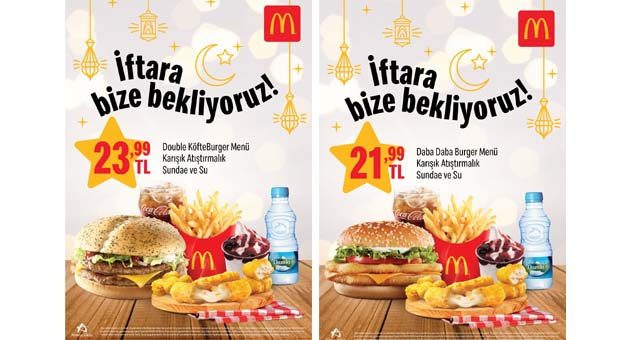 McDonald's'tan Ramazan'a özel menüler