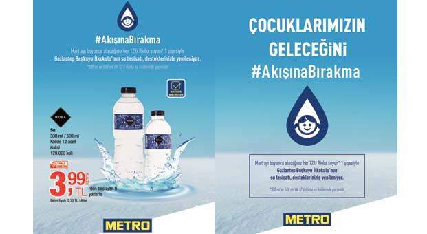 Metro Türkiye, Gaziantep'teki bir köy okulu için #akışınabırakma kampanyası başlattı