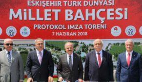 Millet Bahçesi için ilk imzalar Eskişehir'de atıldı