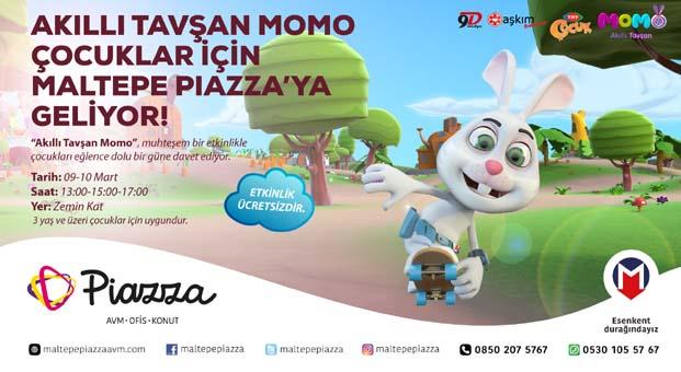 'Akıllı Tavşan Momo'Maltepe Piazza'da miniklerle bir araya geliyor