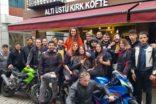 Motorcular ve restoran sahipleri ortak etkinlik yaptı