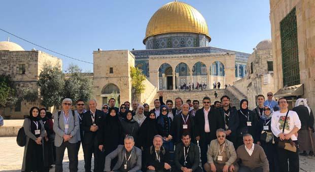 MÜSİAD Basım, Yayın ve Medya Sektör Kurulu Üyeleri Filistin'e çıkarma yaptı