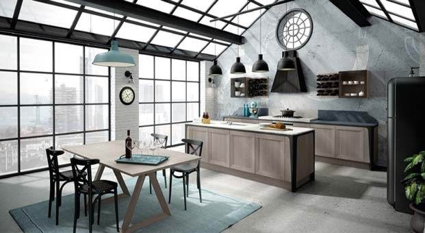 İtalyan stilini mutfağa taşıyan tasarımlar; Berloni