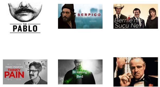 Movember için farklı bıyık stilleri Netflix'te