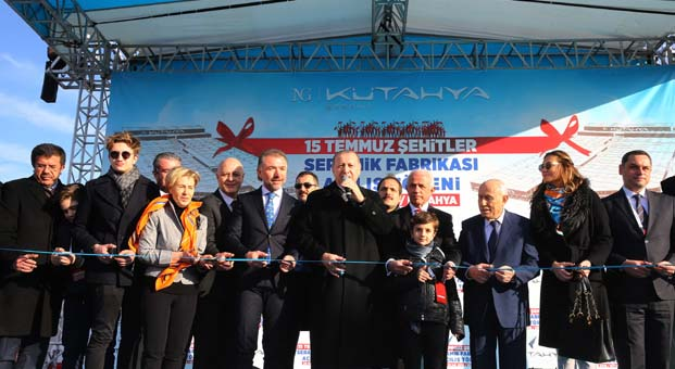 NG Kütahya Seramik'in seramik fabrikası Cumhurbaşkanı Erdoğan tarafından açıldı