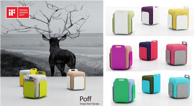 Tuna Ofis'ten iF Design ödüllü tasarım: Poff Puf