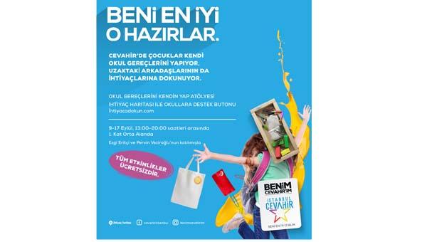 Okul ihtiyacılarını İstanbul Cevahir'de kendin yap