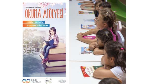 Ege Perla'da okuma atölyesi ile çocuklar eğlenirken öğrenmenin tadını çıkarıyor
