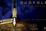Parker'ın 130. yılına özel ürettiği Duofold The Craft of Travelling kalemi Penfest'te