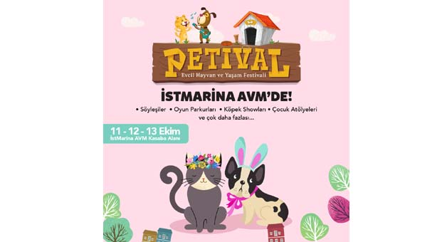 İstMarina AVM hayvanseverleri Petival Festivali'nde buluşturacak