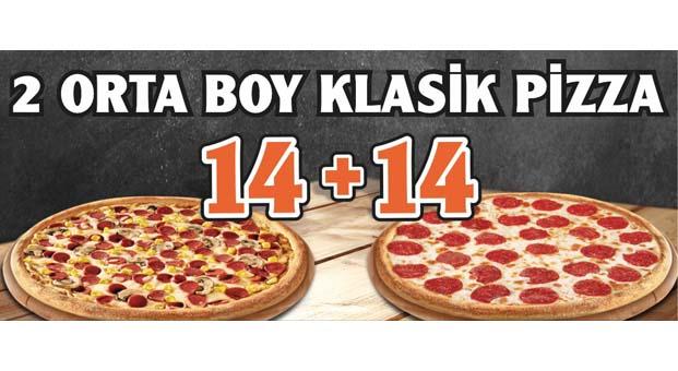 Bir pizza yetmez diyenler Little Caesars'a
