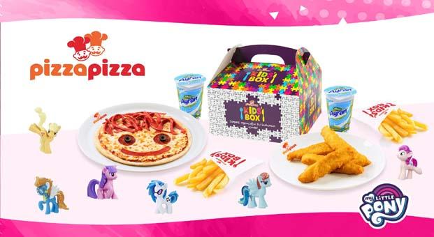 Transformers ve My Little Pony Oyuncakları Pizza Pizza çocuk menülerinde