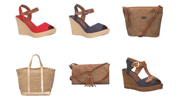 Polaris'ten yaza damga vuracak hasır çanta ve ayakkabı modelleri