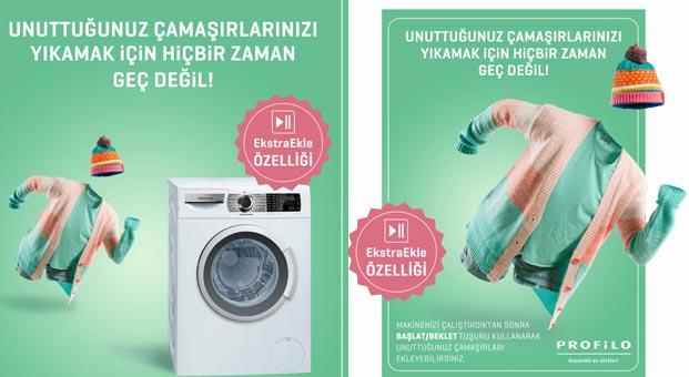 Profilo çamaşır makineleri İle unutulmuş çamaşırlar sorun değil