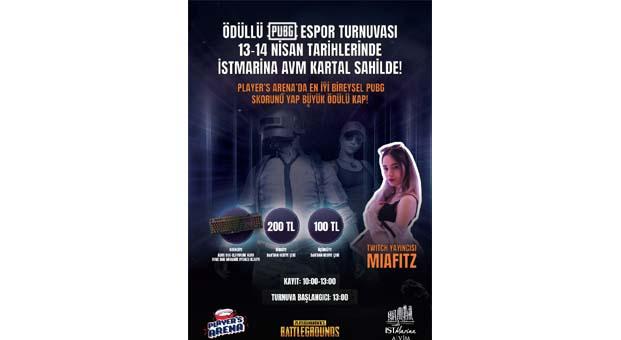 Ödüllü PUBG Turnuvası İstMarina AVM'de nefes kesecek