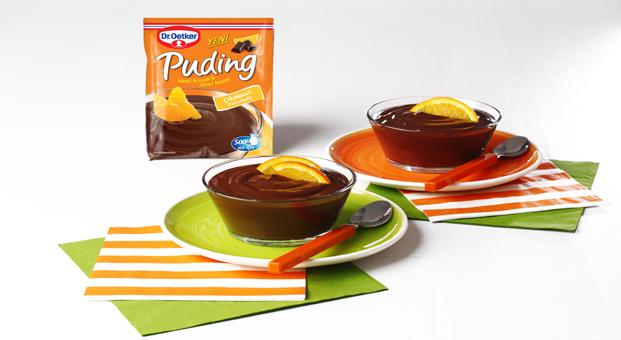 Sevilen iki lezzet Dr. Oetker Çikolatalı Portakallı Puding'de bir araya geldi!
