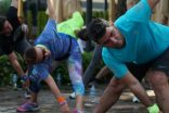 Reformist'te binlerce festival ziyaretçisi spor yaptı