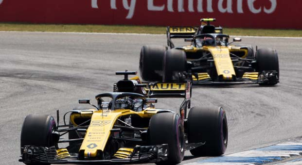 Renault F1 pilotu Nico'dan sezonun en iyi performansı