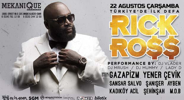 R&B Müziğin dünyaca ünlü ismi 'Rick Ross' geliyor