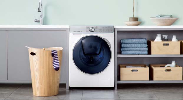 Samsung QuickDrive teknolojisi ileçamaşır yıkama süresi yarıya iniyor