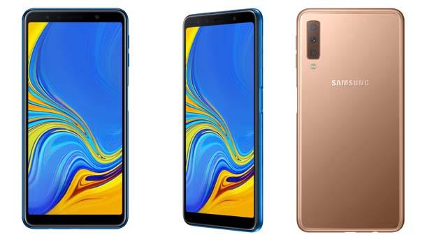 Üç arka kameralı Samsung Galaxy A7 lansmana özel indirimle satışa çıkıyor