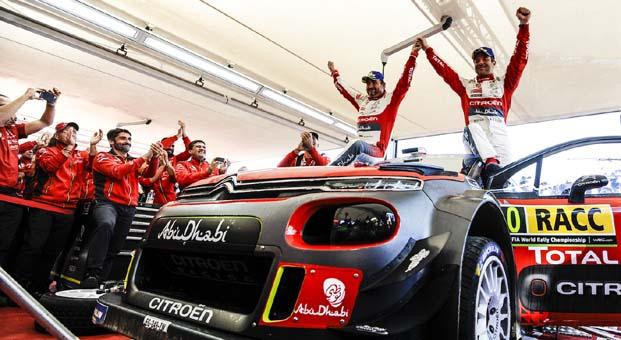 Citroen'in, Sebastien Loeb ile İspanya'da birinciliği yakaladı