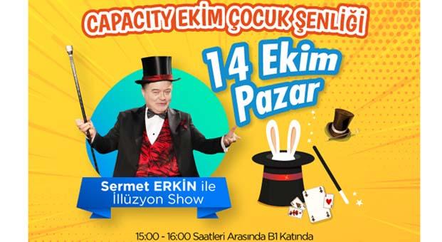 Sermet Erkin ile illüzyon show Capacity AVM'de