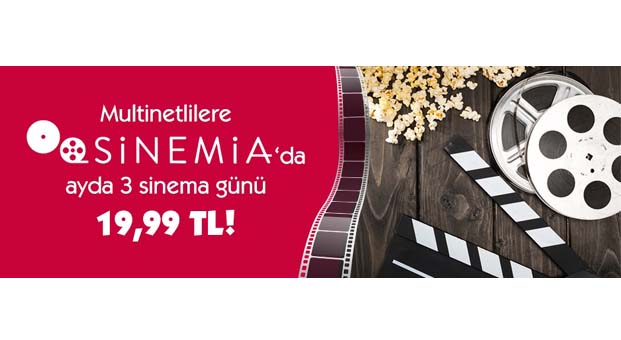 Multinetlilere özel Sinemia'da ayda 3 sinema günü 19,99 TL