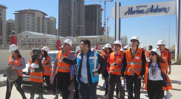 Geleceğin mimarları Altınoran ve Marina Ankara'yı gezdi