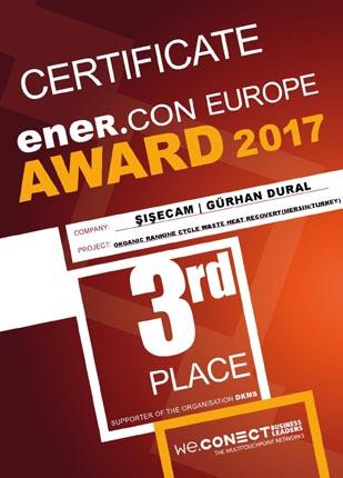 Şişecam Topluluğu'na enerji verimliliği alanında uluslararası ödül