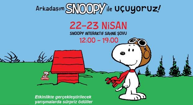 Çocuklar Bilkent Center'da Snoopy'le buluşuyor